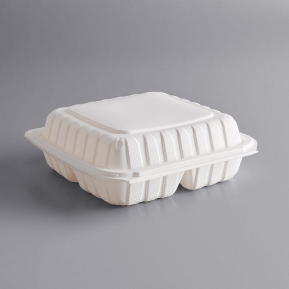 hinged biodegradable 3 compartment